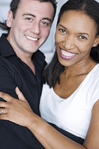 a black woman in a relationship with a white man