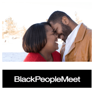 a mature African American couple meeting for a kiss
