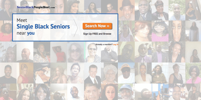 senior black people meet homepage signup screen